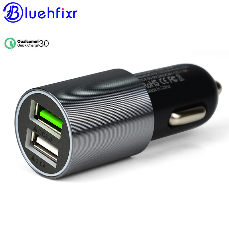 NEW 2 Port USB Quick 3.0 Quick Car Charger 6A Dual Fast Car Charger iPhone Samsung Xiaomi IOS Android Universal