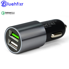 NEW 2 Port USB Quick 3.0 Quick Car Charger 6A Dual Fast Car Charger for iPhone for Samsung for Xiaomi for IOS Android Universal(China)