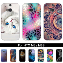 TPU Case for HTC One M8 M8s Soft Silicone Back Phone Cover for HTC One M8S M8 Printing Painted Shells Bags Fundas for HTC m8 m8s(China)