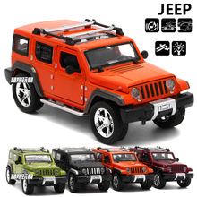 High Simulation 1:32 Scale Jeep Wrangler Off-road Vehicle Car styling Toy Diecast Metal Auto Model Toy for Baby Collection Gifts(China)