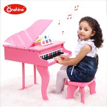 30 keyboards Beautiful Music Toy Baby Toy Wooden Grand Piano Musical Toys Instrument for Children Kids Educational Electric Toy(China)