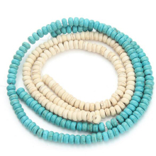 White/Blue Compound Howliet Bead Loose Natural Stone Beads for Jewelry Making DIY Necklace Bracelets Wholesale(China)