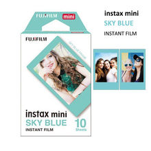 New Fujifilm Instax Mini Sky Blue Film 10 Sheets for Instant Mini 8 70 90 25 50s Photo Paper Camera Polaroid Share  SP-2 Printer