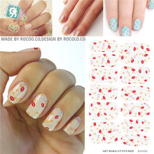 3D design nail sticker Full Cover Water Transfer adhesive foil nail stickers Decorations tools Products nail art water decals