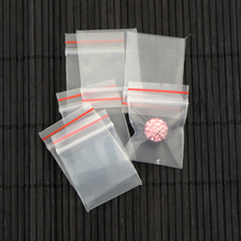 100pcs Thick Mini Plastic Bags ziplock Seal Transparent Poly Bags 2016 Packaging Packages Packing 2.2x2.8cm