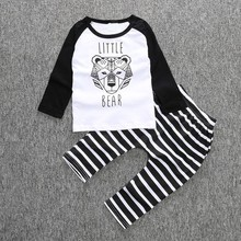 Kids Autumn Clothes Ice Wolf Printed Boys T-shirt Set Casual Children Clothing Girl Winter Clothes Kids newborn baby clothes