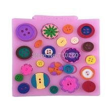 M086 DIY Button shaped Christmas wedding decoration silicone mold fondant sugar cooking tools cake decoration