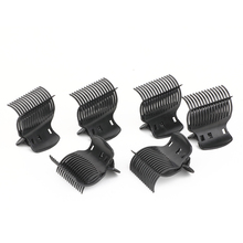 Women Claw Clips for Hair Styling Black Hot Roller Super Butterfly Clips Hair Clips 6 pcs/package Hairpins(China)
