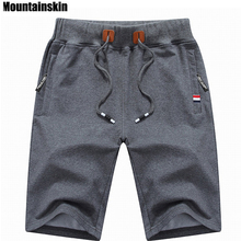 Mountainskin 2017 Solid Men's Shorts 4XL Summer Mens Beach Shorts Cotton Casual Male Shorts homme Brand Clothing SA210(China)