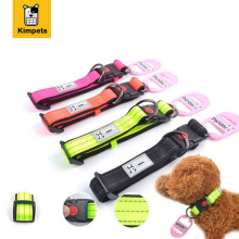 Nylon Reflective Adjustable Dog Collars Night Safe 4Size S M L XL