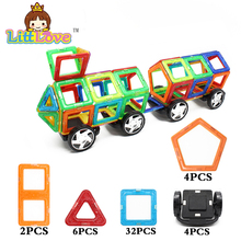 48Pcs Big Size Truck Magnetic Construction Building Blocks Toys DIY 3D Magnetic Designer Educational Bricks Toys For Children
