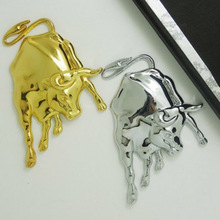 Car-Styling Covers 3D Metal Bull Ox Emblem Badge Car Stickers Decals Motorcycle Sticker on all cars(China)