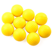 10 pcs/bag Bright Yellow Color Light Indoor Outdoor Training Practice Golf Sports Elastic PU Foam Balls Training Aid