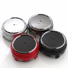 4pcs Red Black Silver Grey Hight Quality Car Wheel center hub caps emblem fit for Mercede Benz Accessories Styling(China)
