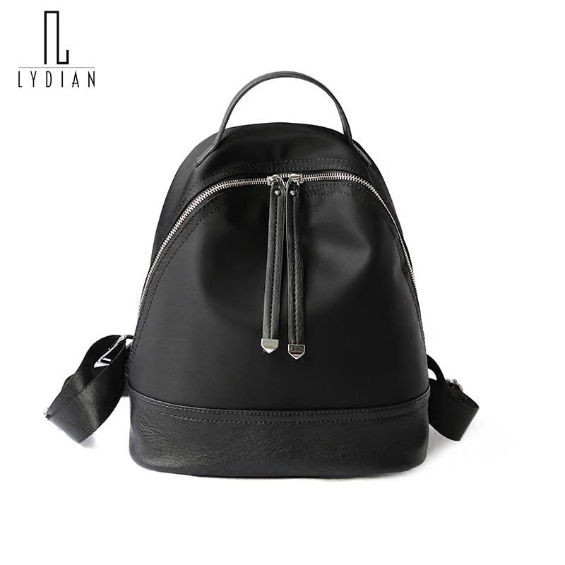 Lydian Oxford New Travel Backpacks Korean Women School Backpack Color Tassel Student School bag Soft Nylon Zipper Women Bag Sac <br>