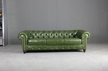 Full italian leather Chesterfield sofa Classic sofa for antique style sofa only 3 seater