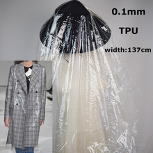 2018 Fashion Trend Ultra transparent 0.1mm TPU Designer New Fabric Material(China)