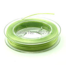 Wholesale mini DIY crystal bracelet cord beads imported materials, flat wear bracelet stretch cord elastic thread Green - L77A21