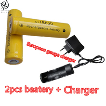 DING LI SHI JIA XH 2pcs 3.7V 2000mah 18650 battery lithium ion rechargeable battery flashlight 3.7V +18650 26650 charger
