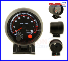 "Free Shipping 3.75"" ELECTRICAL BLACK TACHOMETER RPM GAUGE /AUTO GAUGE/BLACK RIM WITH SHIFT LIGHT 4-6-8 CYL(China)"