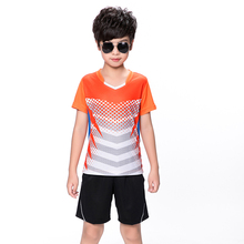 Free print Children Tennis clothes boy tracksuit , Sports children table tennis clothes girl , Wicking Badminton clothes 5069(China)