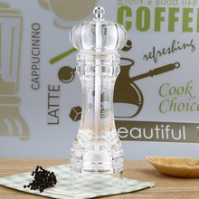 Acrylic Transparent Manual Pepper Grinder Salt Spices Mill Ceramic Classic Design Shaker Kitchen Accessories Grinding Tool