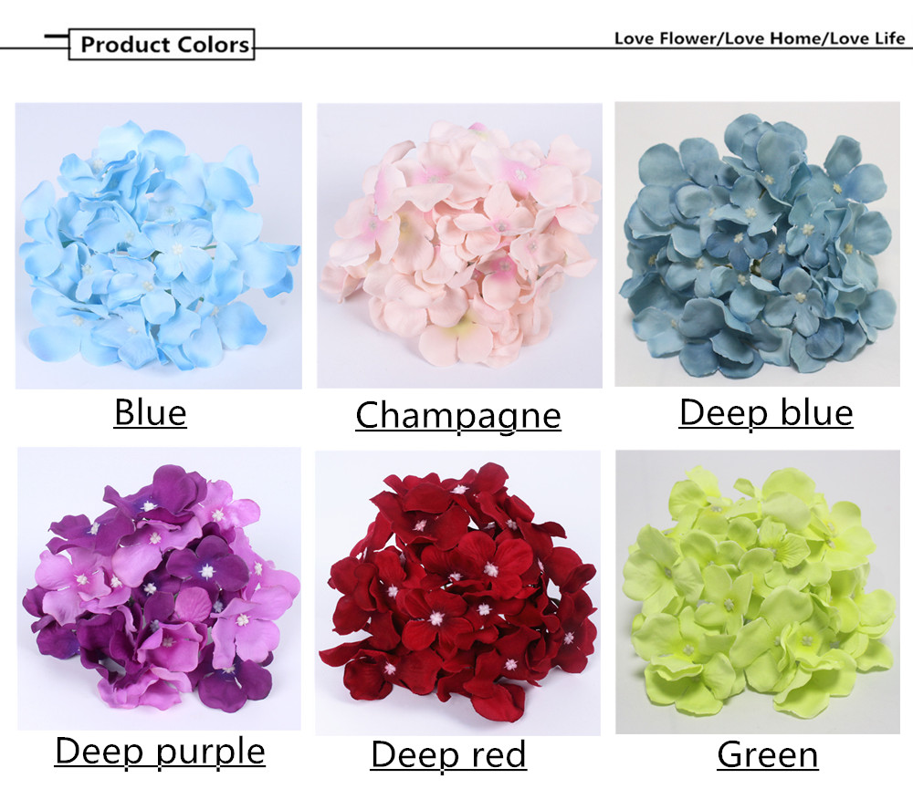 Discount luxury artificial hydrangea silk flower amazing colorful cheap hydrangea silk flowers buy quality flowers for directly from china decorative flowers suppliers 99pcslot luxury artificial hydrangea silk flower izmirmasajfo