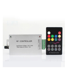 DC12V 24V Audio sound 3 channel RF wireless remote rgb led music controller for led strip light(China)