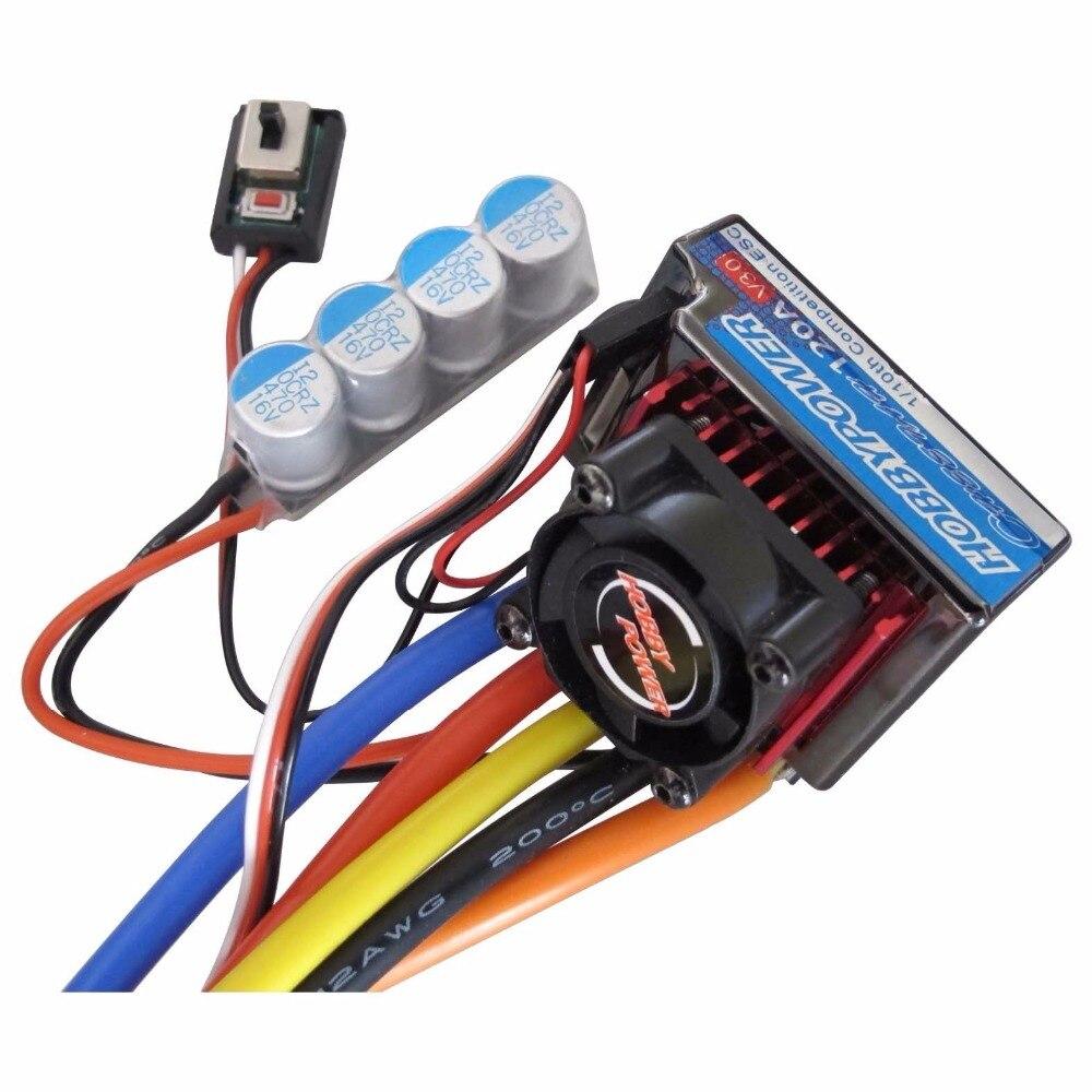 Hobbypower 120A V3.0 Sensored Brushless Speed Controller ESC for 1/8 1/10 1/12 Car Crawler<br><br>Aliexpress