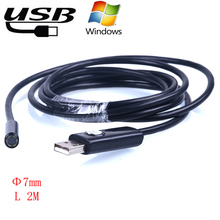 7MM 2M mini usb endoscope endoscoop Camera 6 LED Underwater Borescope Industrial Inspection camera Micro-cameras For Windows PC