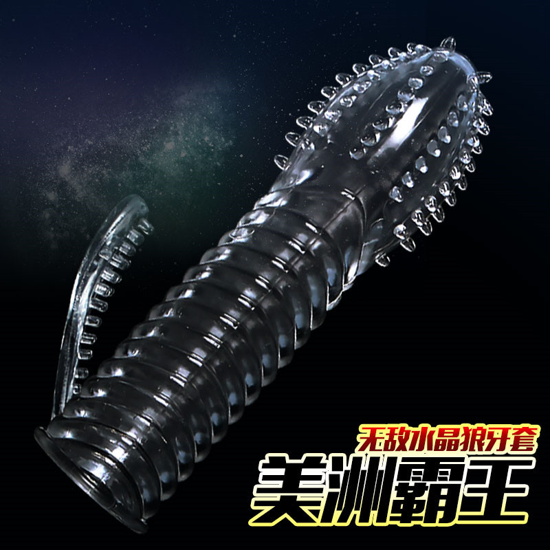 Newest Crystal Penis Sleeve Time Delay Enlargement Excited Special Condoms Extender Sex Toys Men Women