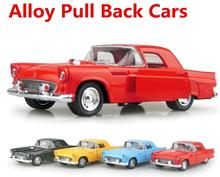 Metal diecasts toy vehicles ,high simulation toy vintage car,1:32 alloy car models, pull back & Ford car, free shipping(China)
