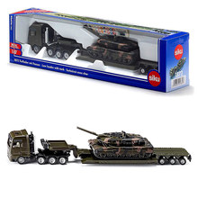 SIKU Die-cast and ABS Army heavy duty truck with Panther tank alloy model 26cm in box