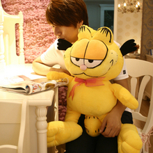 Free shipping 80 cm Garfield doll, cute cat stuffed animal plush toys, super special to send boys and girls for Christmas