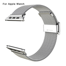 HOT Best selling Good Price Metal Stainless Steel Mesh Watch Strap Band for Apple Watch Bands for iWatch 38mm 42mm 2 Colors