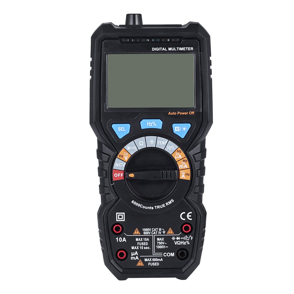BSIDE 1pc ADM08P Automatic LCD Display Electric Handheld Tester Digital Multimeter Multimetro Ammeter Multitester Black Sale<br>