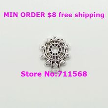Silver Ferris Wheel Locket Charm Amusement Park Floating Charm For Glass Floating Locket Accessories