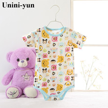 2017 new Boys&Girls Baby Rompers Short Sleeve Cotton O-Neck 0-24M Novel Newborn Roupas de bebe Baby Clothes Cotton Cheap romper