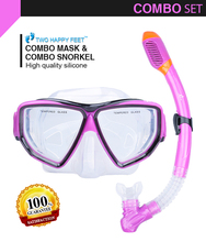 YonSub New purple Scuba Diving Equipment Dive Mask + Dry Snorkel Set purple
