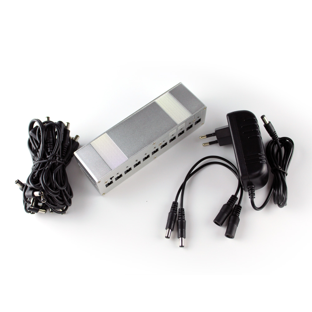 Kokko 10 Way Power Supply for Guitar Effect Pedal Pedal Power  DC 9V 12V 18V Output Negative center<br>