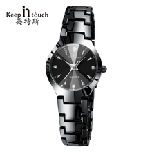 Keep in touch Luxury Quartz Women Watches Designer Luminous Woman Wristwatch Rhinestone Ladies Watch Bracelet Relogio Feminino(China)