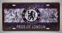 1 pc Chelseae Football Club Londen Tin plates man cave Plaques metal home Decor Dropshipping tin Signs garage Decoration