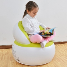 Inflatable Chair Kids Air Seat Chair Reading Relax Bean Bag Inflatable Beanbag Home Living Room Sofa Lazy Chair for Children(China)