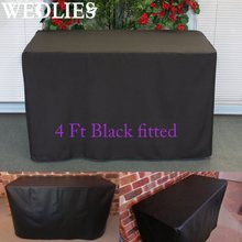 Polyester Black Trestle Table Cover Folding Function Market Fair Wedding Party Outdoor Furniture Cover Table Cloth 123X61X72cm