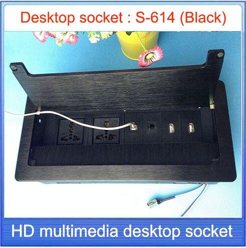 Tabletop socket /hidden/USB interface  Network RJ45 Information outlet  /Office conference room High-grade desktop socket  S-614<br><br>Aliexpress