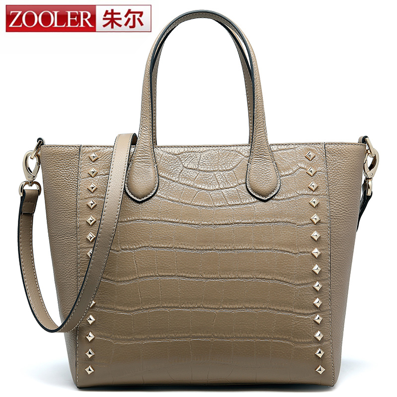 Guarrenteened 100% cowhide ZOOLER women bags 2016 brands top handle bag leather shoulder bags bolsa feminina#1206<br><br>Aliexpress
