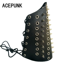 Punk Spike Bracelet Cool Night Club Cosplay Bangle Spikes Rivet Stud Wide Cuff Leather Punk Gothic Rock Unisex Bangles Bracelets(China)