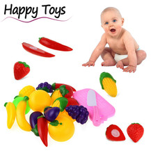 Mooistar2 #5002 11PC Cutting Fruit Vegetable Pretend Play Children Kid Educational Toy(China)