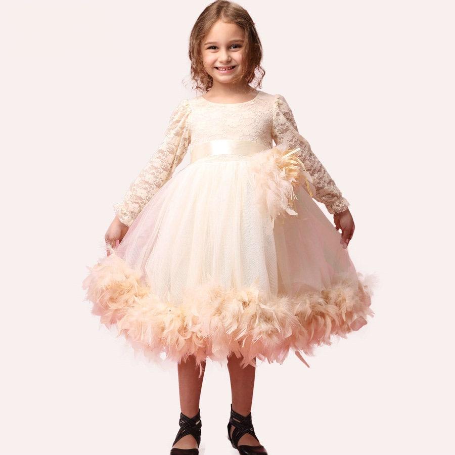 Designer Kids Wear Cute Baby Party Frocks Rustic Flower Girl Dresses<br>