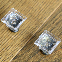 10pcs 27MM Dr. cap Clear Acrylic Kitchen Cabinet Knobs Cupboard Dresser pull handle Bedroom Furniture Drawer Knobs